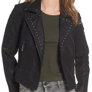 Jackets & Blazers - Black Faux Leather Moto Jacket